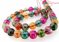 Unique Pearls jewellery Store Charming 12MM Round Multicolor Tourmaline Color Quartz Gemstone Beads one Full Strand 15''