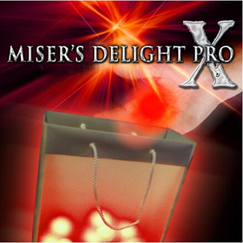 Misers délice Pro X de Mark Mason (lumière rouge/bleue disponible), tours de magie, accessoires, comédie, Illusions, scène, mentalisme