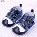0-2 años de edad del bebé primero caminan los zapatos de color rojo y azul 11-13 cm boy zapatos de los niños bebe menino 398