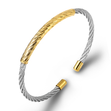 Famous Brand Punk Black Silver Cable Wire Designers Bangles Thin Braided Cuff Bracelet For Women Stainless Steel Jewelry Gifts new arrival spring wire line colorful titanium steel bracelet stretch stainless steel cable bangles for women