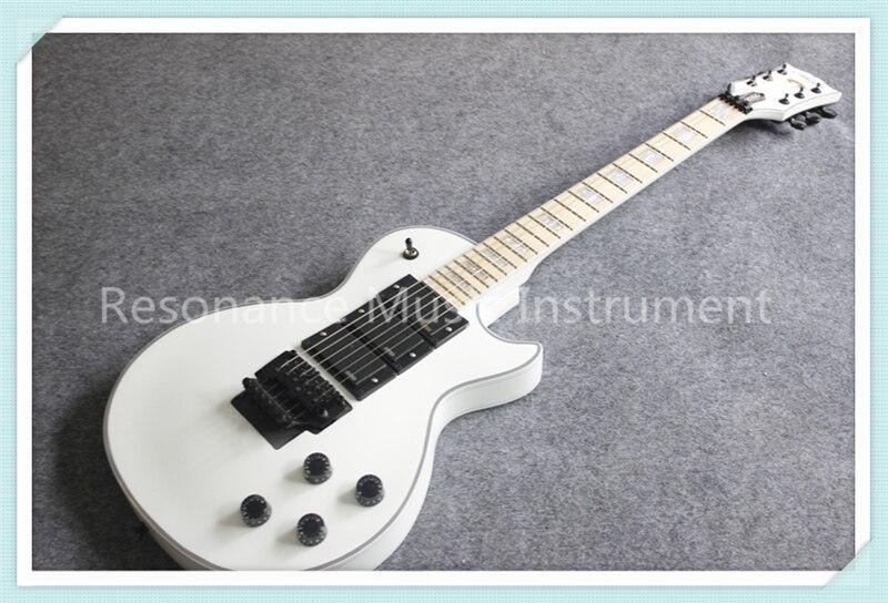 Custom Shop White Glossy Finish Suneye LP Custom Electric Guitars Maple Fretboard & Black Floyd Rose Tremolo For Sale