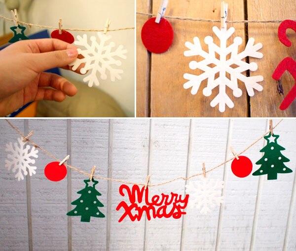 Us 289 28 Offhiasan Dinding Kertas Bintang Merry Christmas Garlands String Rantai Pesta Natal Banner Handmade Keluar Pintu Kamar Natal Rumah
