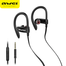 лучшая цена Awei Es-160i In Ear Earphone Wired Headset With Microphone Super Bass 3.5mm Headphone Sport Earpieces For Samsung Xiaomi Oneplus