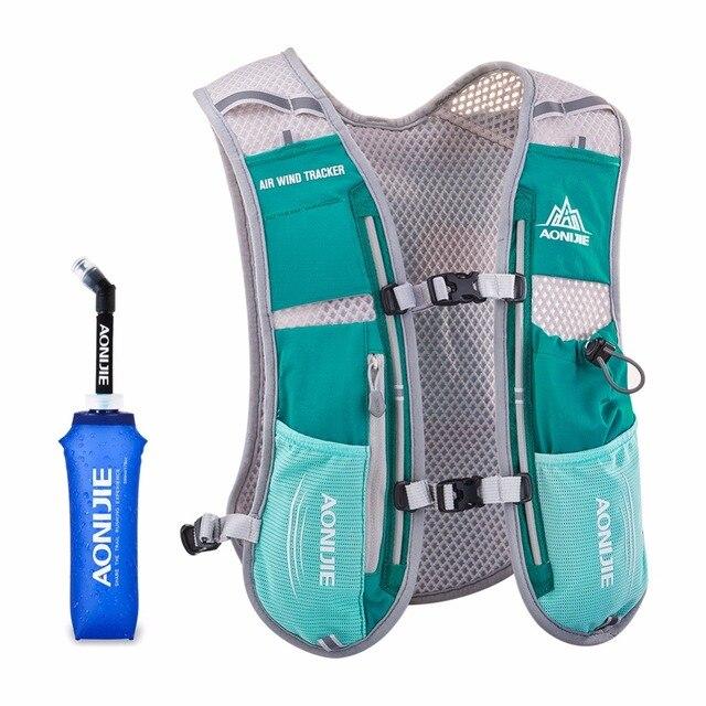 AONIJIE Men Women Running Backpack Outdoor Sports Trail Racing Marathon Hiking Fitness Bag Hydration Vest Pack 500ml Kettle