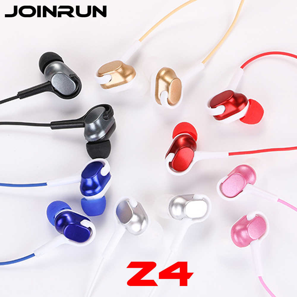 Joinrun Z4 In-Ear 3.5 Mm Earphone Mobile Phone Hi Fi Stereo Bass Earbud Earphone Musik Headset dengan MIC untuk Xiao Mi Ponsel