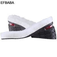 EFBABA Warm Winter Wool Insoles Pads Height Increase Insole Men Women Shoe Pad Air Cushion Shoes Accessoire Chaussure 3cm 7cm