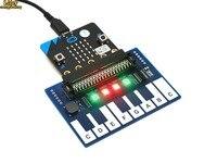 מיני פסנתר מודול עבור מיקרו: קצת  מגע מפתחות לשחק מוסיקה  עם 4x RGB נוריות