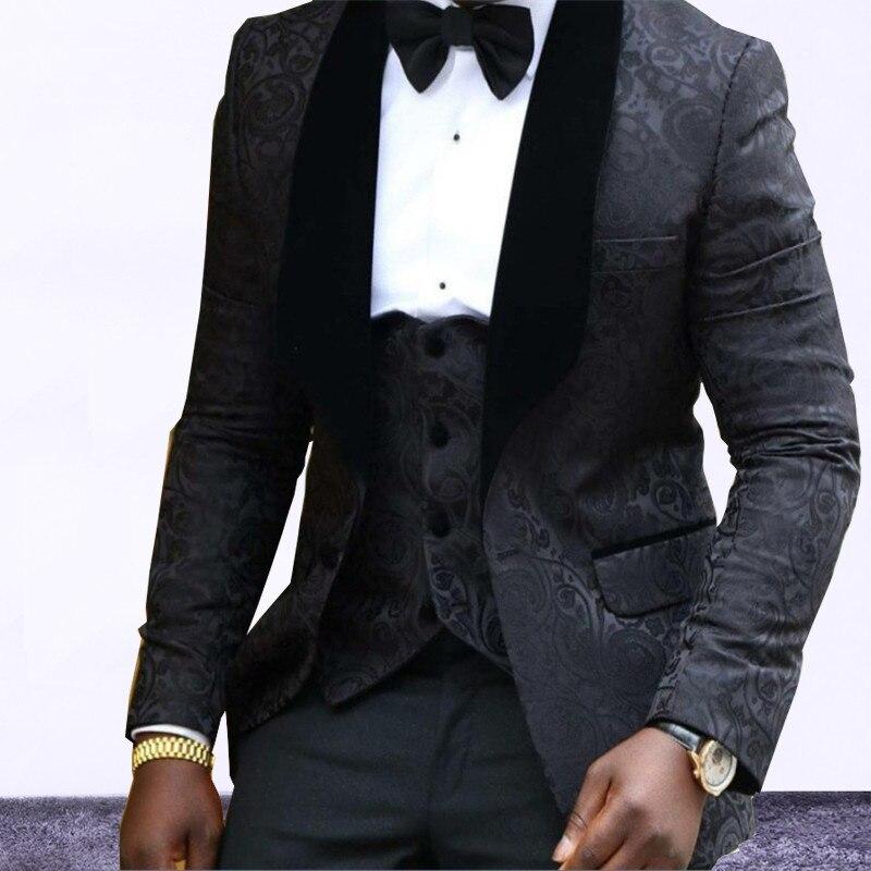 Solapa chal negro rojo blanco boda Esmoquin por encargo Trajes dos piezas  traje (chaqueta + Pantalones + chaleco) en Trajes de La ropa de los hombres  en ... deb22733839