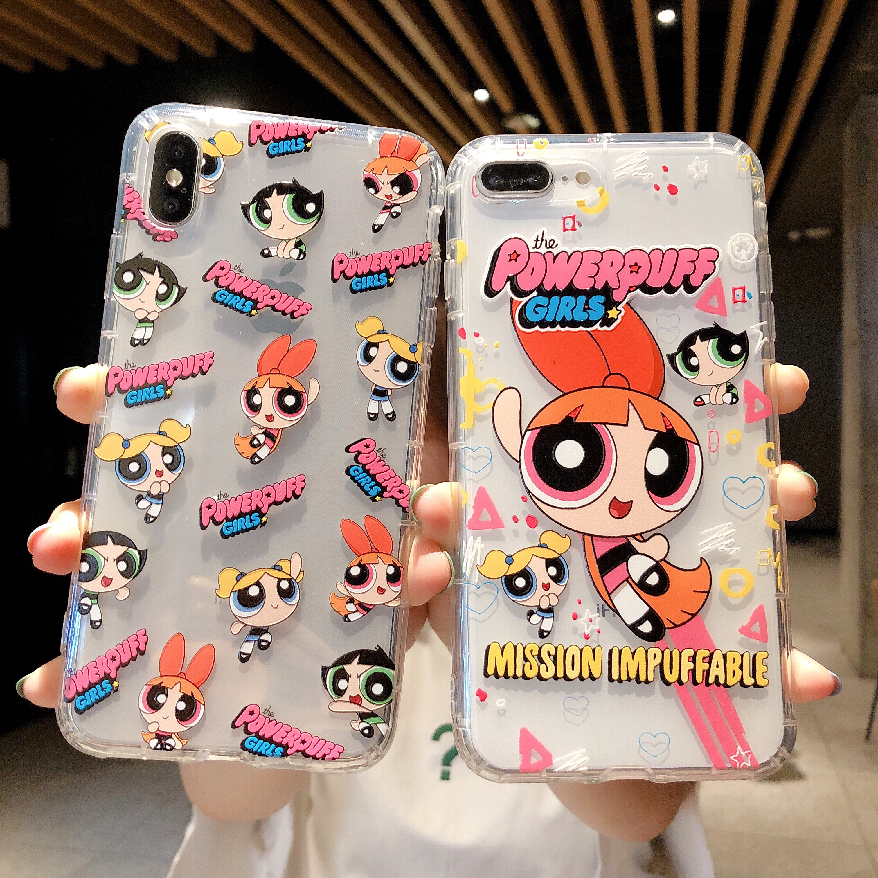 Cartoon Super Hero powerpuff girls phone case For iphone 7 6 6S 8 Plus X XR XS MAX 10 Cute Angel soft Silicone Cover Accessories