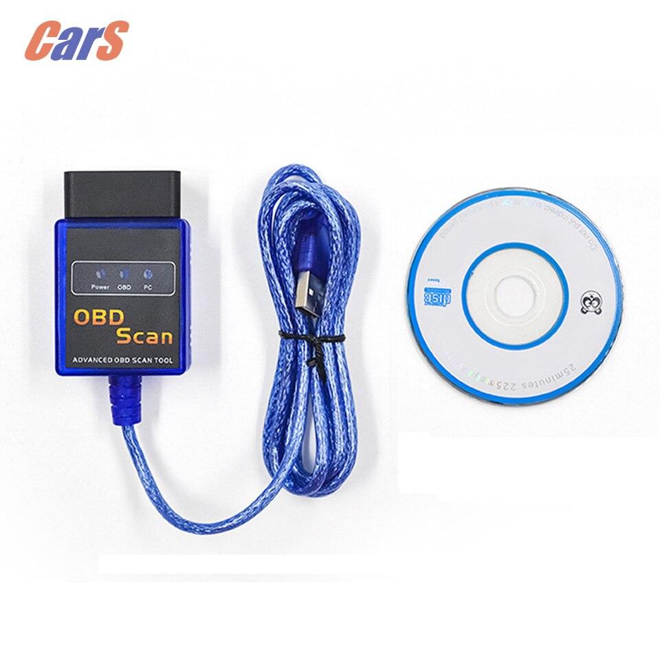 Voiture De Diagnostic Scanner ODB2 ELM327 V2.1 OBD 2 II USB Voiture Auto Câble De Diagnostic Outil De Diagnostic De Voiture-outil