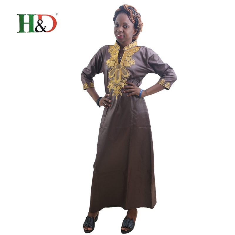 H D 2017 All africa Summer Fashion Style Lady s Maxi Dress Riche Bazin Print Shirt