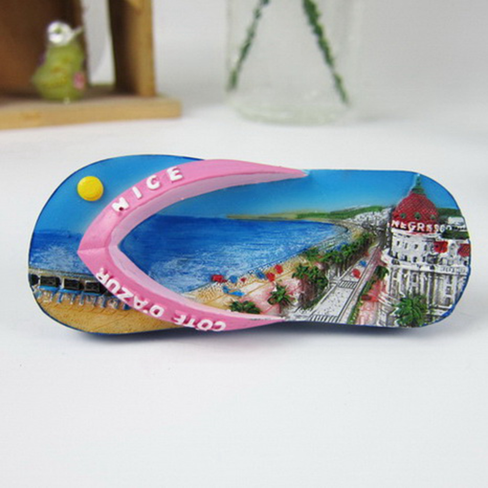 France Nice British Boulevard Tourist Fridge Magnets Flip