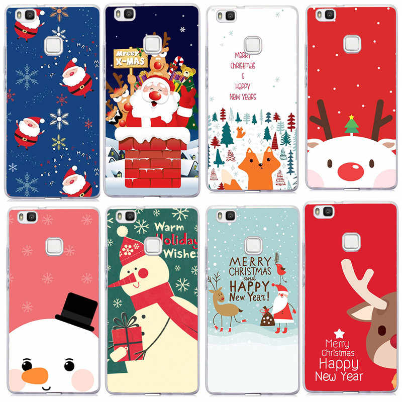 Christmas Elk Case For Huawei P20 Lite Case Cover Soft TPU For Huawei Mate 10 20 P30 Lite Pro P Smart 2019 P9 P10 Lite Capa
