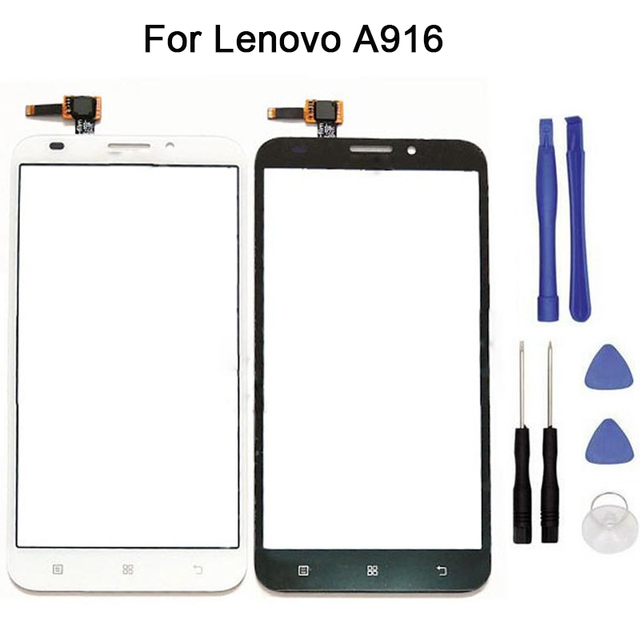 New Touch screen For Lenovo A916 Touch Screen Digitizer Front Glass Touch Panel Replacement + tool