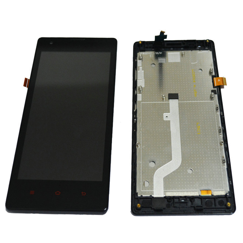 "Black Redmi 4.7"" LCD Display Assembly + Touch Screen Digitizer with Frame For Xiaomi Red Rice Hongmi 1S Replacement FreeShipping"