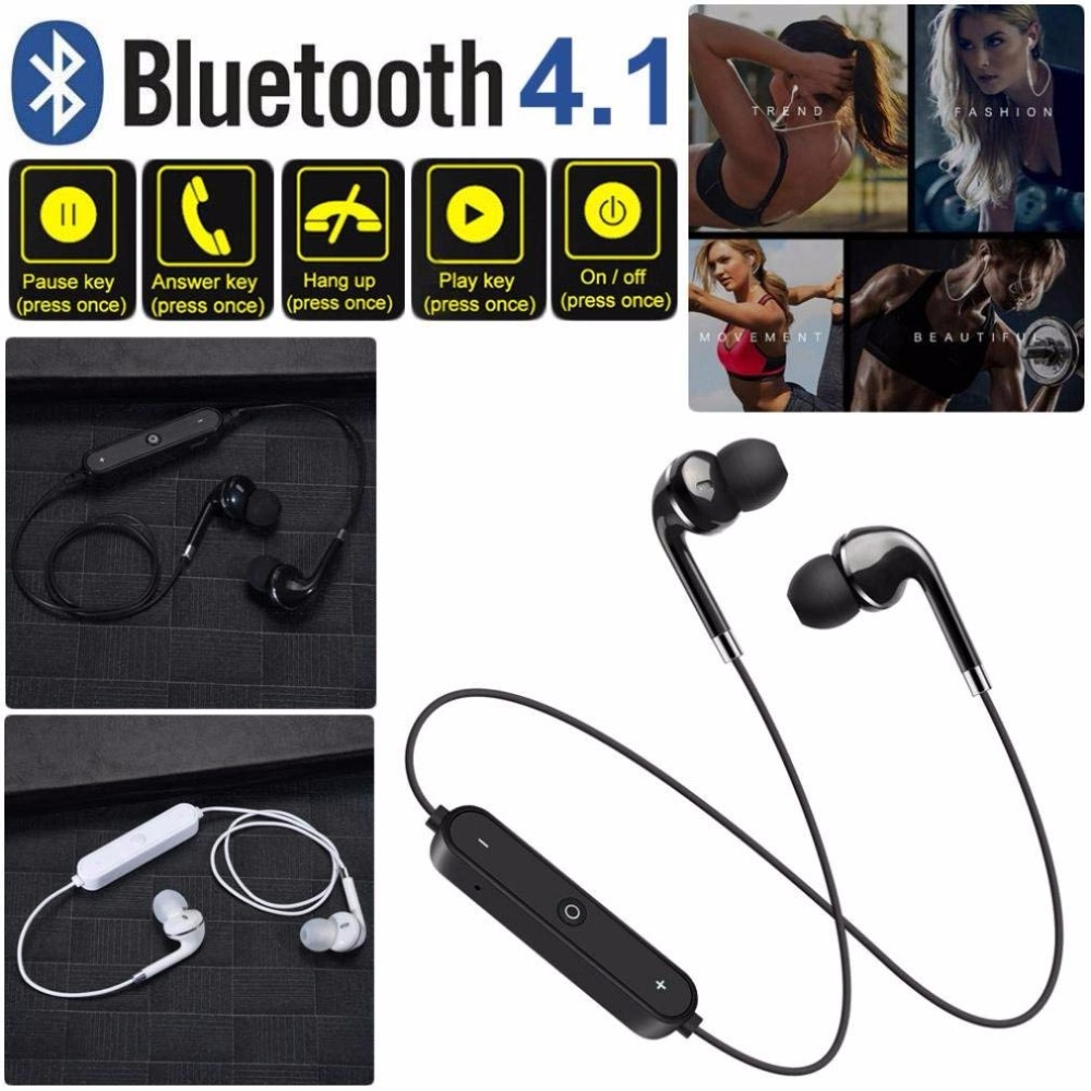 Duszake <font><b>S6</b></font> <font><b>bluetooth</b></font> <font><b>Earphone</b></font> Wireless headphones Sport Cordless Sports <font><b>Bluetooth</b></font> <font><b>Earphone</b></font> for phone iPhone xiaomi Samsung image