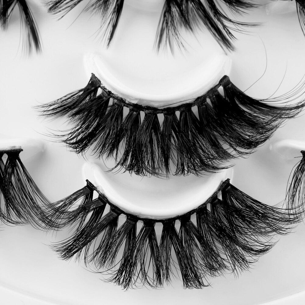 539eb1e7415 7 Pairs 3D Mink Hair False Eyelashes 25mm Lashes Thick Long Wispy Fluffy  Handmade Cruelty free Mink Eyelash Makeup Tools -in False Eyelashes from  Beauty ...