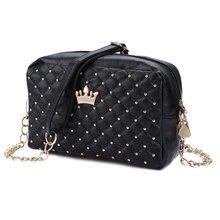 Fashion Vintage Women Evening Messenger Bags Rivet Chain