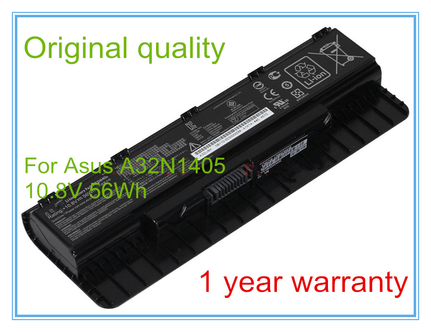 10.8V 56Wh Original A32N1405 Battery for ROG N551 N751 G551 G771 GL551 LG771 G551J G551JK G551JM Laptop 10 8v 56wh original new laptop battery for asus g551 g58jk g771 g771jk a32n1405 n551