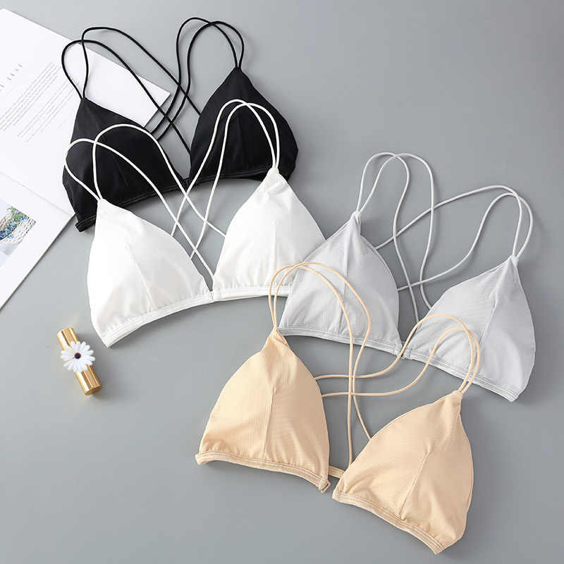 Seamless Sexy Front Button Bra Push Up Underwear Buckle Female Small Chest Padded Bra Underwire Lingerie