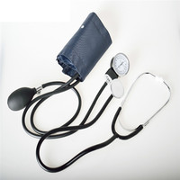 Aneroid Sphygmomanometer Blood Pressure Measure Device Kit Cuff Stethoscope Home Use Blood Pressure Manual Sphygmomanometer