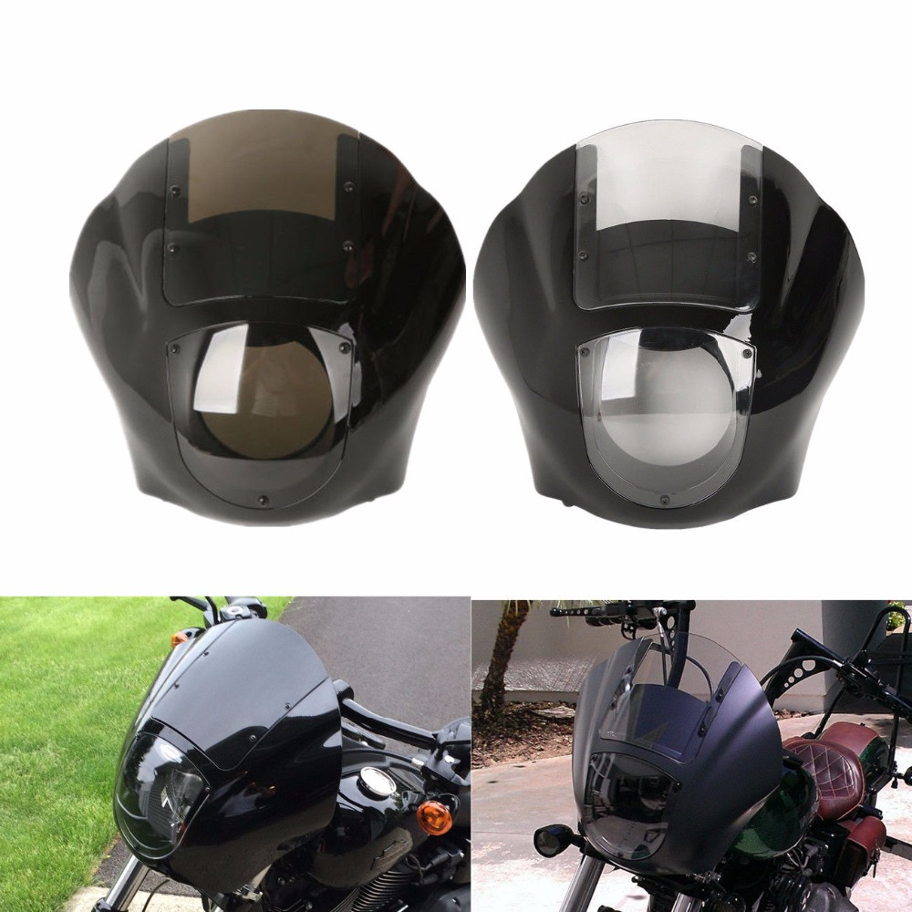Frames & Fittings Motorcycle Quarter Fairing Kit Windshield For Harley Sportster Xl 883 1200 1988-2016 Dyna Fat Bob Super Glide 1995-2005 Covers & Ornamental Mouldings