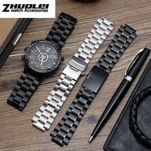 a73b9dcf0fb7 Correa de reloj de acero inoxidable para hombre TIMEX T2N720 T2N721  TW2R55500 T2N721 correa de reloj de plata de 24 16mm pulsera.