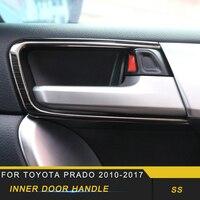 Para toyota prado 2017-2018 estilo do carro interior maçaneta da porta tigela capa guarnição quadro etiqueta acessórios interiores