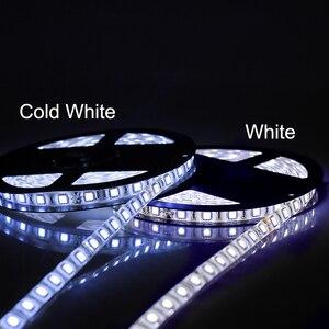 Image 5 - DC 24V 5050 LED רצועת 60 נוריות/m 5 M/Roll 300 נוריות IP20 IP65 עמיד למים LED רצועת 5050 RGB, לבן, חם לבן, אדום, כחול, ירוק, צהוב
