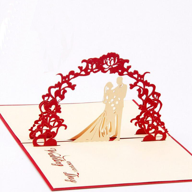 3d bride and groom handmade pop up greeting cards kirigami wedding 3d bride and groom handmade pop up greeting cards kirigami wedding card anniversary invitation card paper stopboris Choice Image