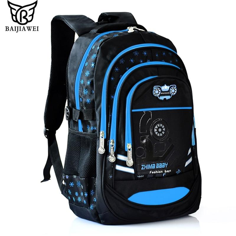 BAIJIAWEI 2017 Children Backpacks Waterproof Fashion Print School Backpacks for Girl Boy Primary School Backpack Mochila