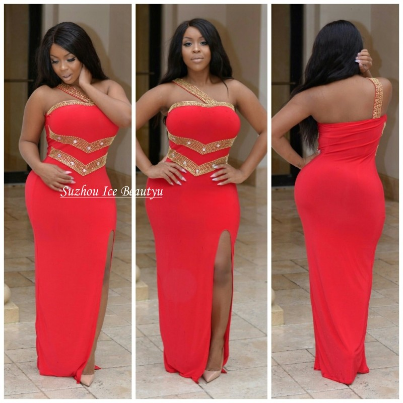 Red prom dresses plus size 2017