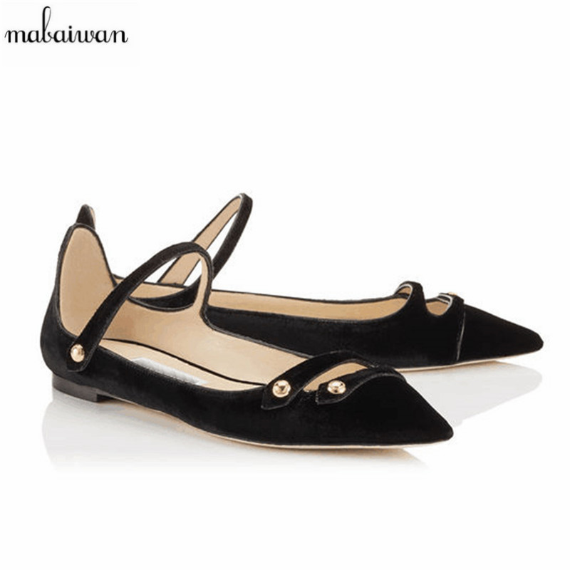 2017 New Fashion Vintage Velvet Casual Women Shoes Pointed Toe Ballerina Flats Soft Flat Shoes Woman Flats Moccasins Espadrilles new listing pointed toe women flats high quality soft leather ladies fashion fashionable comfortable bowknot flat shoes woman