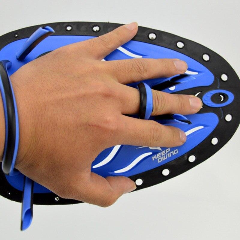 Hombres Mujeres Niños ajustable silicona natación Paddles entrenamiento mano Webbed guantes Padel aletas profesional aprender Gear