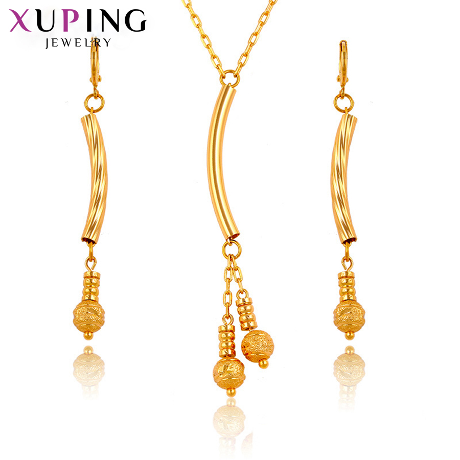 Xuping Fashion Elegant Jewelry Sets Gold Color Plated Environmental Copper For Women Christmas Day Gift S72,2-63602 Durable In Use Jewelry Sets Jewelry Sets & More