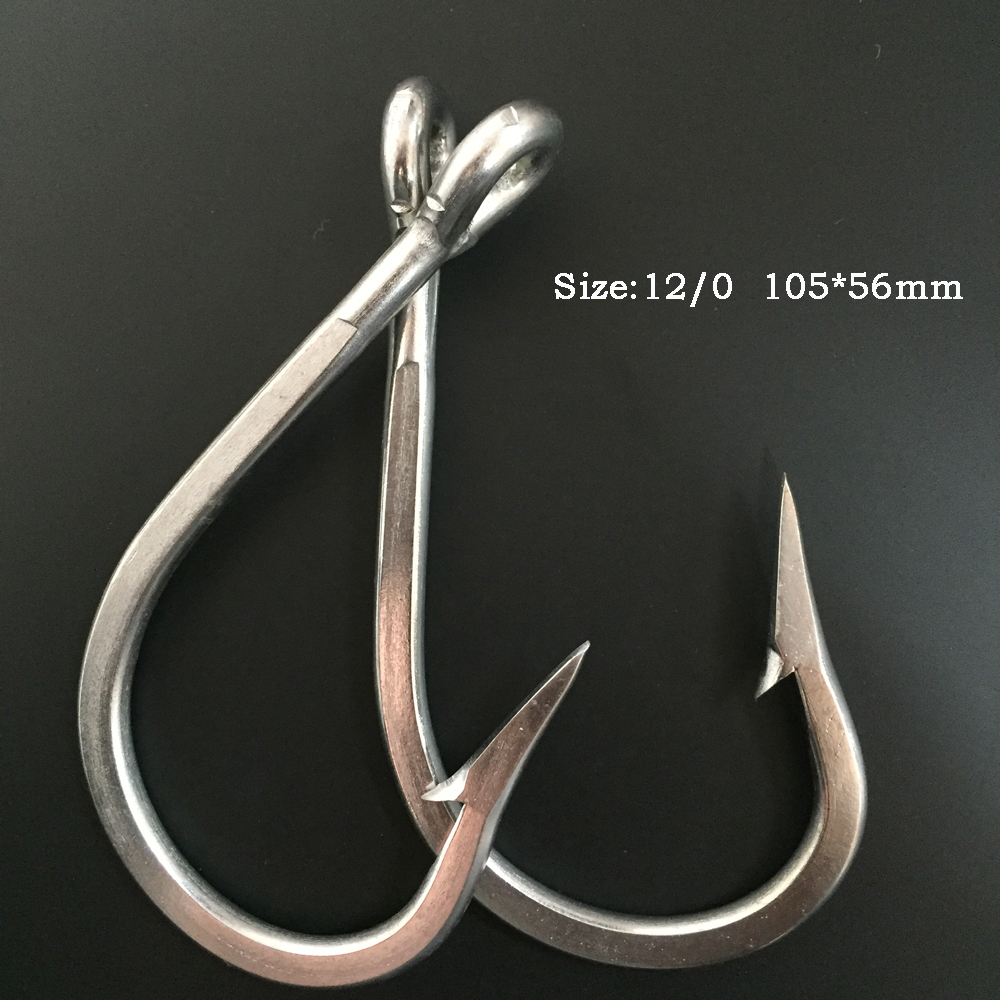 CN03 12 0 10 pieces Stainless Steel Mustad font b Fishing b font Hook Barbed font