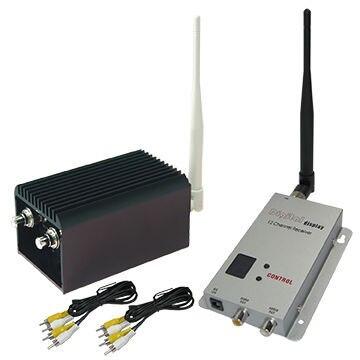 20KM LOS UAV長伝送距離送信機1.2ghzワイヤレスFPVビデオ送信機および受信機、8チャンネル、2000mW