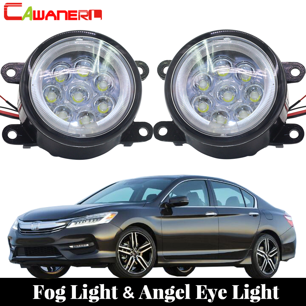 цена на Cawanerl 1 Pair Car LED Fog Light Angel Eye DRL Daytime Running Light 12V Styling For Honda Accord 2008 2011 2012 2013 2014