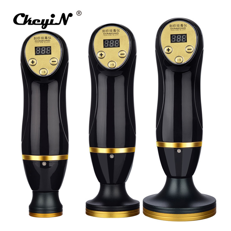 Electric Therapy Scraping Chinese Guasha Tool Facial Body Massage Strong Suction Moisture Absorber Anti Cellulite Weight