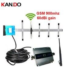 Celular GSM signal booster GSM repetidor de sinal de telefone celular GSM 900MHZ amplificador de sinal com display LCD completo yagi conjunto