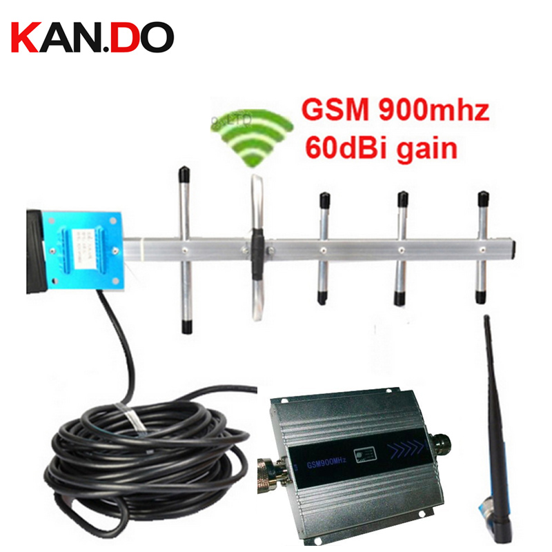 Mobile Phone GSM Signal Booster GSM Signal Repeater Cell Phone GSM 900MHZ Signal Amplifier With LCD Display Yagi Full Set