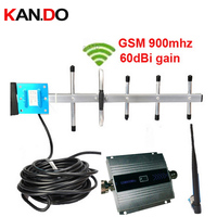 new model gain 55dbi w/ 10 Meter cable and yagi antenna LCD display function GSM 900Mhz mobile phone signal booster and repeater