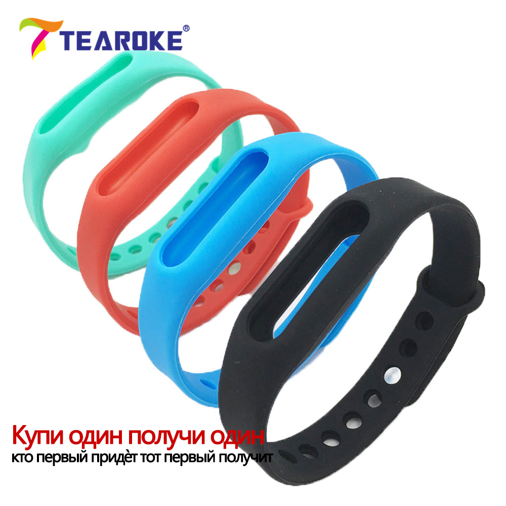 In Stock! TEAROKE 4 Colors Silicone Soft Watchband for Xiaomi 1S MiBand Mi Band Colorful Replacement Bracelet Wristband Strap new in stock mi j60 iy s