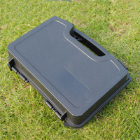 ABS Pistol Case Tactical Hard Pistol Case Gun Case Padded Foam Lining for Hunting Airsoft 25CM