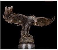 Западная Аннотация Книги по искусству Скульптура Eagle Hawk бронза Медь Мрамор статуя фигурка латунь тонкой Книги по искусству S ремесла украше