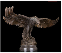 Western Abstract Art Sculpture Eagle Hawk Bronze Copper Marble Statue Figurine Brass Fine Arts Crafts decoration