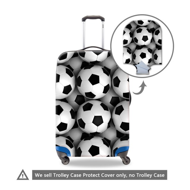 Soccerly Ball 3D Printed Suitcase Cover for Travel Cool Luggage Cover Luggae Protectives for Men Waterproof Suitcase Protectors