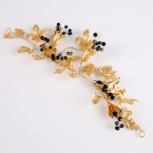 TUANMING New Fashion Hair Jewelry Summer Bridal Hair Pins Black Rhinestone Tiaras And Crowns Headbands Wedding Hair Accessories