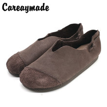 Careaymade-New Genuine Leather pure handmade shoes,the retro art mori girl shoes,Women's casual comfortable Flats shoes,4 colors