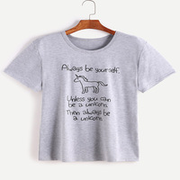 Unicorn Fashion Women S Funny T Shirts Always Be Yourself Unless You Can Be A Unicorn